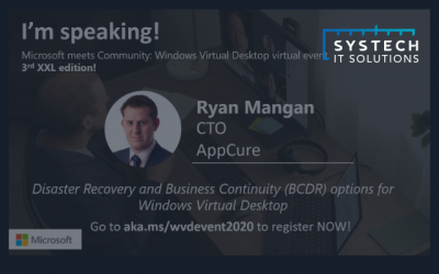 Disaster Recovery and Business Continuity (BCDR) options for Windows Virtual Desktop – Ryan Mangan
